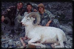 Steve Clark (ctr) of Bremington, WA with friend Russel Robinson (left) and son Chase (right) with his Heavy Dall Ram