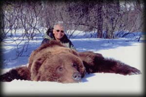Steve Haust of Bighamton, NY with his spring Brown Bear