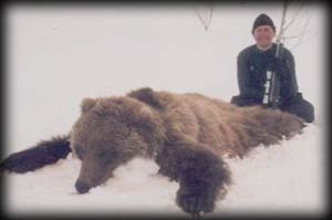 Paul Kozlowski of West Bend, WI with his spring Brown Bear